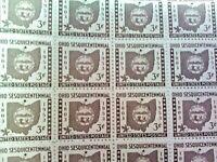 SCOTT # 1019  -  OHIO STATEHOOD 1803-1953 - FULL SHEET 3 CENT STAMPS - OG - MNH