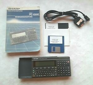 Sharp Taschencomputer Model  PC-E500 + Zubehör
