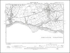 Llantwit-Major, St Donat, old map Glamorgan 1900: 49NW repro Wales