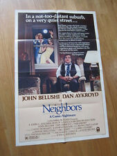 NEIGHBORS Original 1981 poster John Belushi Dan Aykroyd Cathy Moriarty
