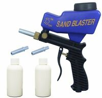 LEMATEC Sandblasting Gun With Two Sand Canned and Tips Air Cleaning Gun Tools