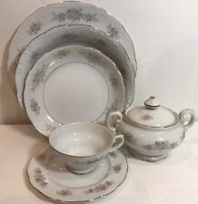 32 pc Chatham by Crest Wood 6 person Fine China Dinnerware Set 1720 Japan