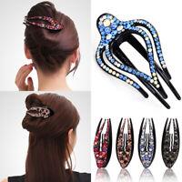 Luxury Women Crystal Rhinestone Hair Clips Claw Lady Hair Pins Fashion Acces