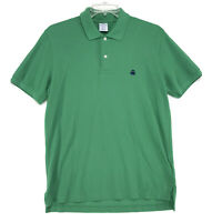 Brooks Brothers Slim Fit Polo Shirt Mens Size L Large Green Short Sleeve