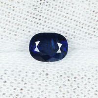 "0.63Cts Fine Luster ""Certif No Heat & Royal Blue"" Natural Sapphire ....!!!!!"