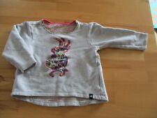 Jako-o Langarm Shirt Pullover Sweatshirt Vogel Papagei 92/98 grau Pink Vogel