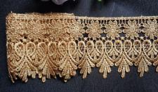 3 inch wide venise lace trim gold color price per yard