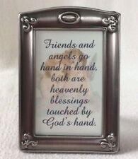 Friends Angels Heavenly Blessings Silver Metal Frame Easel Bck Verse Poem Plaque