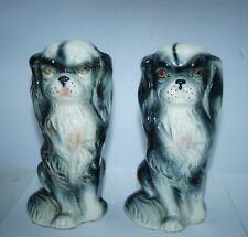 "Vintage Shitz Zhu Set of 2 Foo Dog Japan Ceramic Sculpture Figure Figurine 6.5"""