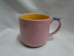 "Lindt-Stymeist Colorways: Mug, Yellow & Pink, 3 1/4"" Tall"