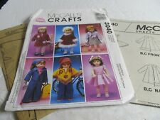 "McCall's Crafts Doll Sewing Pattern 3040 18"" Doll Clothes Uncut"