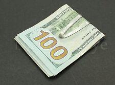 10PC LOT Stainless Steel Slim Money Clip Cash Credit Card Metal Pocket Holder SA