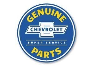 Chevy Genuine Parts Car Sign, Garage Sign, Mechanic Aluminum Sign