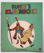 TINTIN. Album à colorier Casterman 4. Kuifje's Kleurboeck. 1971. état neuf