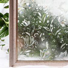 3D Static Cling Frosted Flower Glass Door Window Film Sticker Privacy Room Decor