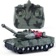 RC Battle Tank Rotating Turret and Recoil Sounds & Light (Army Green) 2WD Panzer