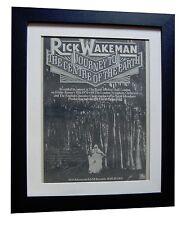 RICK WAKEMAN+Journey Centre Earth+ORIGINAL 1974 POSTER AD+FRAMED+FAST WORLD SHIP