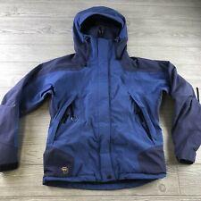 Mountain Hard Wear Nylon Hooded Rain Jacket Size 6 women's blue windbreaker N166