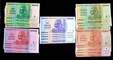 25 Zimbabwe banknotes 5 x 1.5.10.20&50 Billion Dollars- 2008 AA/AB currency