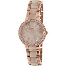 Fossil Women's Virginia ES3965SET Rose Gold Stainless-Steel Quartz Fashion Watch