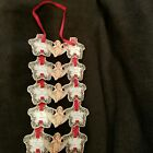 Victorian Ornament Paper Angel To From Red Ribbon 1983 Merrimack Publishing