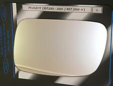 Izquierdo Cristal Del Espejo Lateral para Peugeot 307 2001-2005 407 2004>