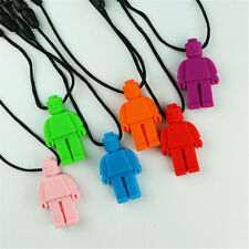 1 PCS  Kids Teething Necklace Silicone Robot Baby Chew Sensory Toys New
