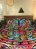 Indian Elephant Tie Dye Mandala Doona Duvet Cover Queen Cover Bedding Blanket