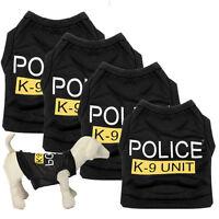 New Dog Cat Vest Police Puppy T-Shirt Coat Pet Clothes Summer Apparel Costumes