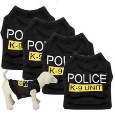 New Dog Cat Vest Police Puppy T-Shirt Coat Pet Clothes Summer Apparel Costumes S