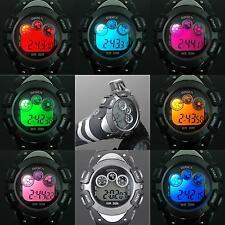 Neuf 8 Couleur LED Jour et date Digital Quartz Homme Femme Bracelet Montre KW70