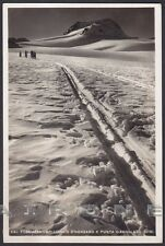 VERBANIA FORMAZZA 158 OSSOLA - GHIACCIAIO Cartolina FOTOGRAFICA viaggiata 1943