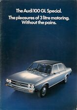 Audi 100 GL Special Saloon Limited Edition 1975 UK Market Sales Brochure