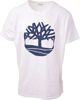 Timberland Men's White Solid Tree Logo S/S Tee (Retail $35) S12
