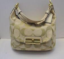COACH 16817 Kristen Hobo Shoulder Purse Handbag Ivory Gold