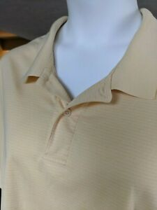 IZOD Mens XXL Short Sleeve Golf Polo Yellow Shirt