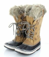 15-80 NEW $210 Women's Size 7.5 Sorel Joan of Arctic Suede Lace Up Boots