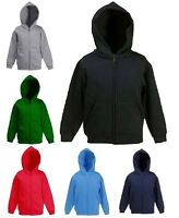 Boys & Girls Children Full Zip Classic Hoodie Sweatshirts Size 5 to 13 Years 506