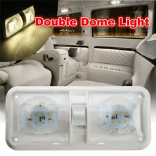 1pcs RV LED 12V Ceiling Fixture Double Dome Light For Camper Trailer RV Marine