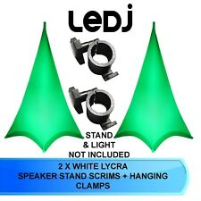 2 X LEDJ DOUBLE SIDED SPEAKER STAND SCRIM COVERS  WITH HANGING CLAMPS  ( PAIR )