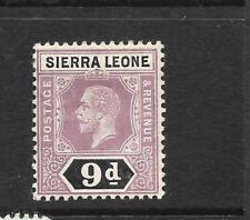 SIERRA LEONE  1912-21   9d   KGV   MLH  SG 121
