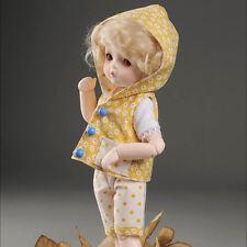 """Dollmore 1/6 Bjd 10"""" Clothes Dear Doll Size - Jou Hood Set (Yellow)"""