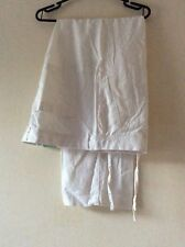 "NEW M&S Women Regular Fit Linen Trousers Size: W 42"" L 31"" New! White"