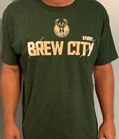 NBA Adult Milwaukee Bucks Green Brew City T-Shirt (S, M, L, XL, 2XL)