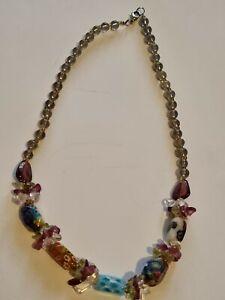 Vintage Millefiori Venetian Murano Glass Bead Necklace