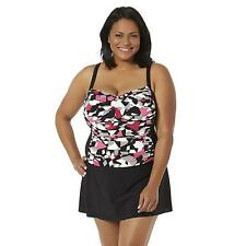 Women's Plus Tropical Escape One Piece Swimsuit Abstract Size 18W NEW $98