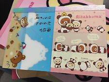 Set of 2 Japan Authentic San-X Rilakkuma Korilakkuma Mini Memo Note Pad