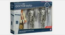 DR WHO THE SEVENTH DOCTOR FIGURE SET with TWO CYBERMEN B&M Exclusive NEW SEALED