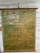 More details for large vintage 1965 map of great britain for pickfords heavy haulage