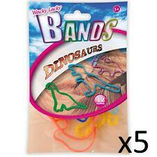 Kids Bandas Elásticas Wacky Lacky Fiesta Divertida Toy Formas Para Niños Dinosaurios 5 paquetes